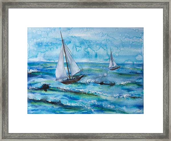 Framed Print featuring the painting Silence by Katerina Kovatcheva