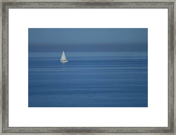 Sky Blue Framed Print by Marta Grabska