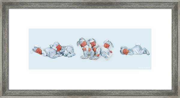 Sleeping Bunnies Framed Print by Anne Geddes