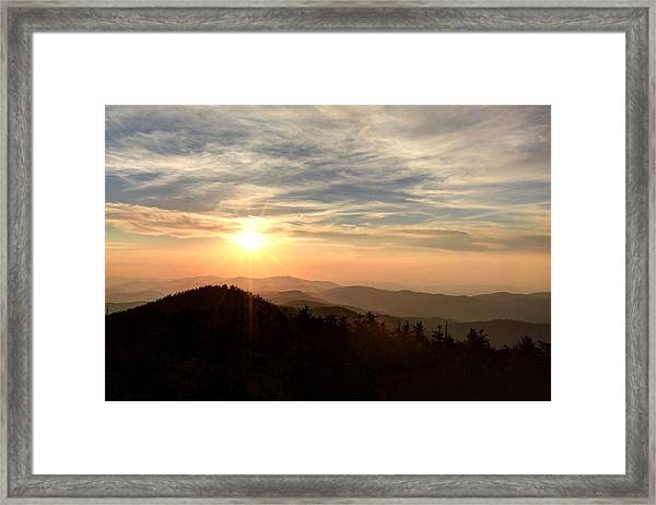 Smoky Mountain Sunset Framed Print