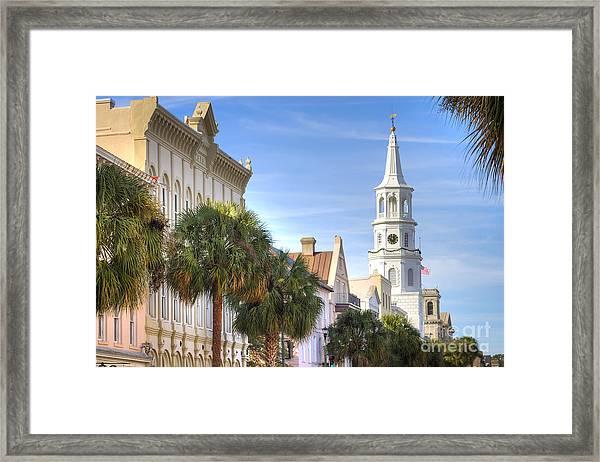 St Michaels Church Charleston Sc Framed Print