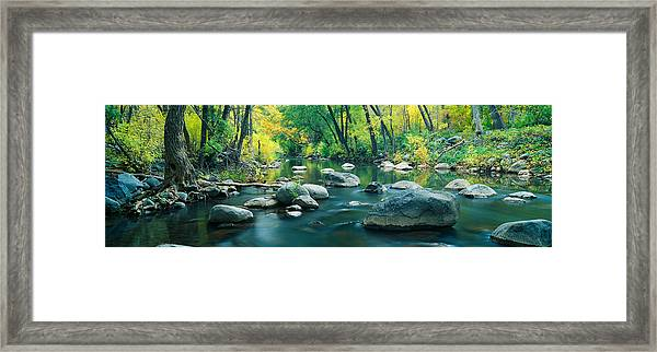 Stream In Cottonwood Canyon, Sedona Framed Print