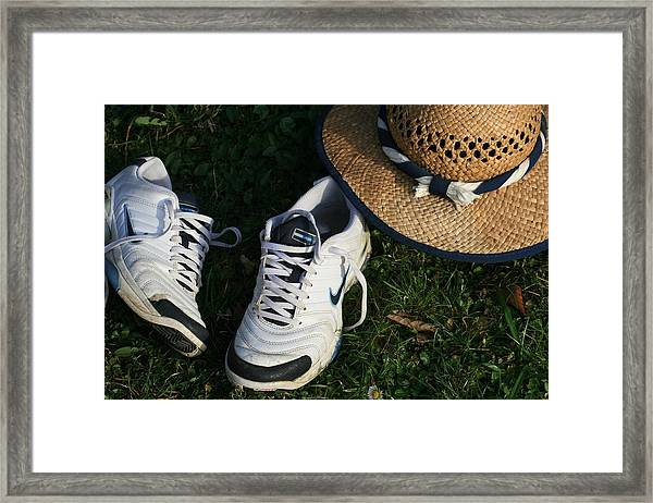Summer Day In April Framed Print by Valia Bradshaw