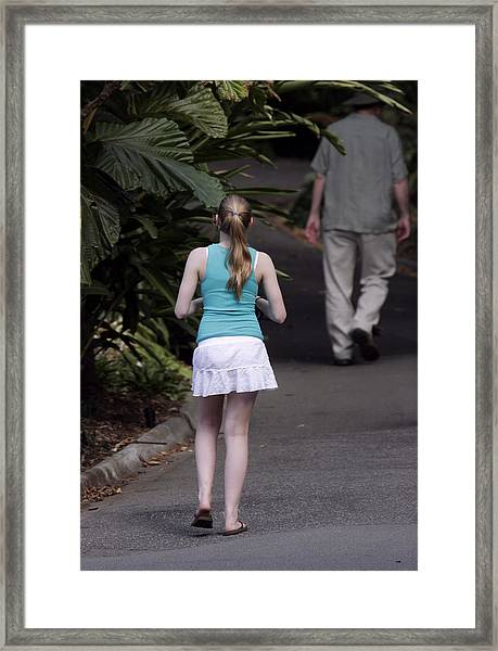 Summer Walk Framed Print by Masami Iida