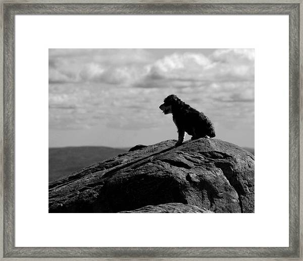Summit Silhouette Framed Print