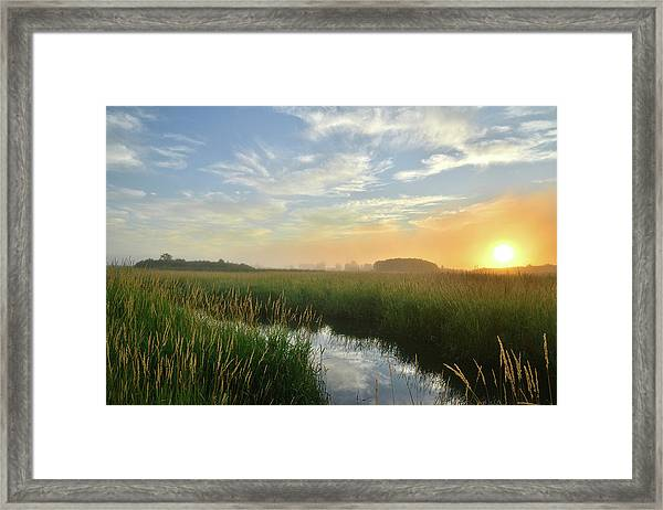 Sunrise At Glacial Park Framed Print