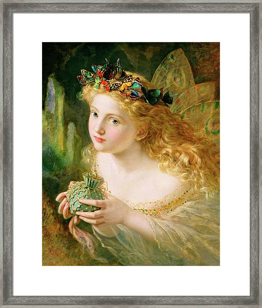 Take The Fair Face Of Woman Framed Print