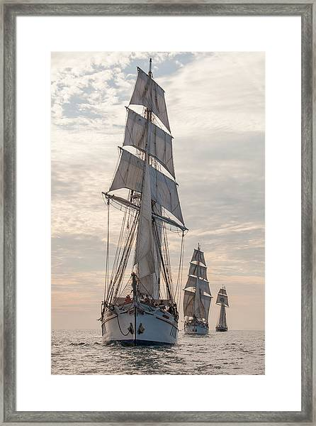 Parade Of Ships Framed Print