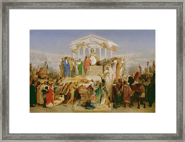 The Age Of Augustus, The Birth Of Christ Framed Print