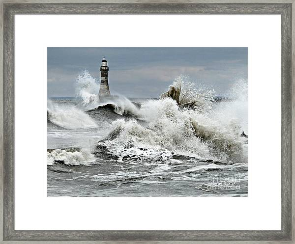 The Angry Sea Framed Print