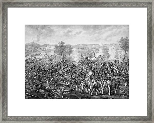 The Battle Of Gettysburg Framed Print