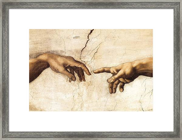 The Creation Of Adam Framed Print