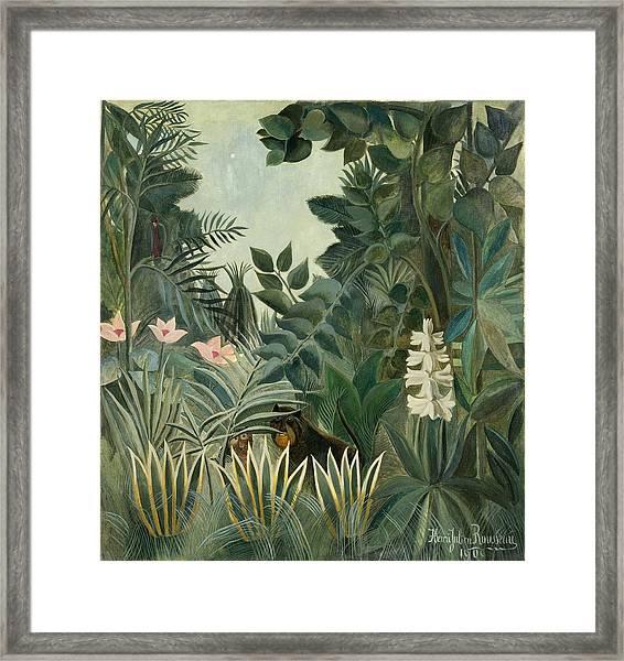 The Equatorial Jungle Framed Print