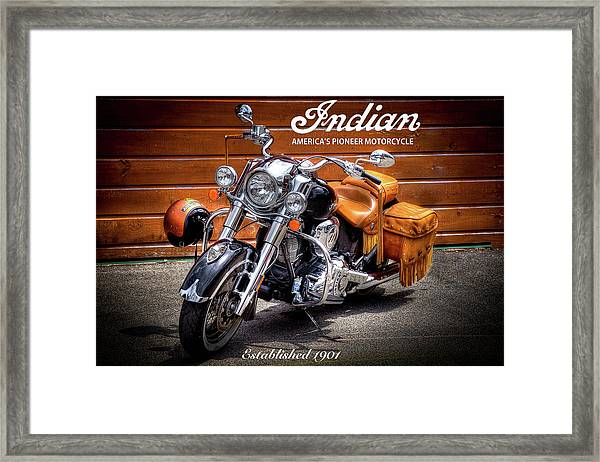 The Indian Motorcycle Framed Print