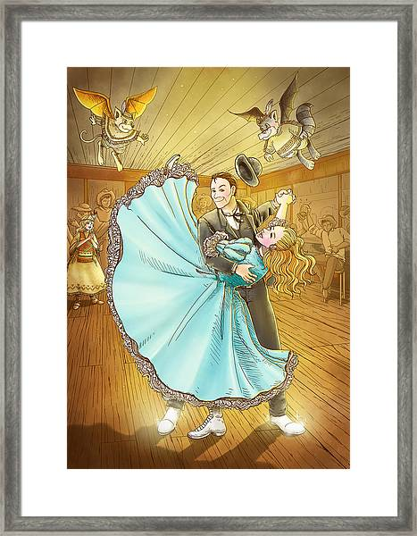 The Magic Dancing Shoes Framed Print