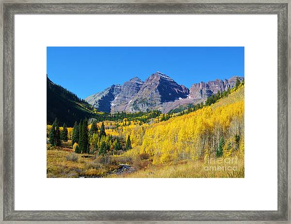 Framed Print featuring the photograph The Maroon Bells by Kate Avery