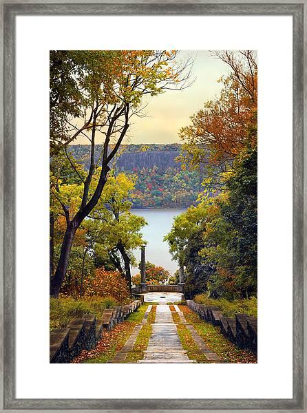 The Vista Steps Framed Print