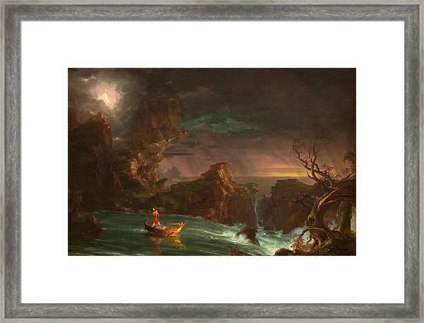 The Voyage Of Life, Manhood Framed Print