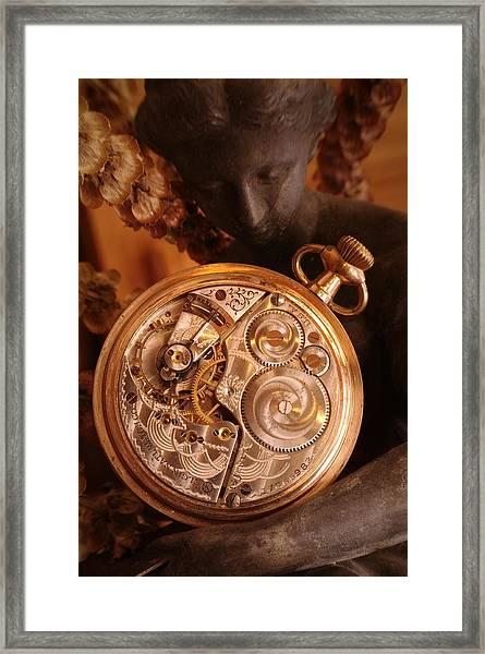 Time... Framed Print