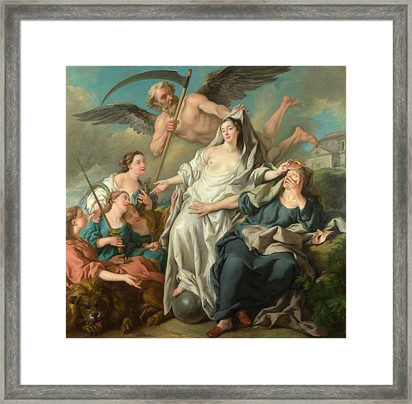 Time Unveiling Truth Framed Print