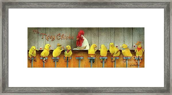 Tipsy Chicks Framed Print