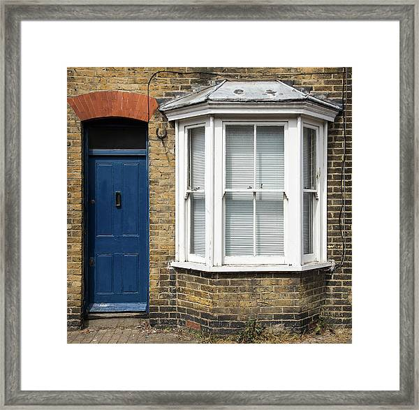 Traditional English House Front Entrance Framed Print