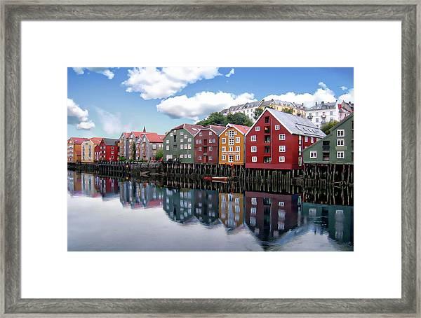 Trondheim Coastal View Framed Print