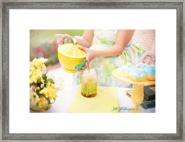 Vintage Val Iced Tea Time Framed Print