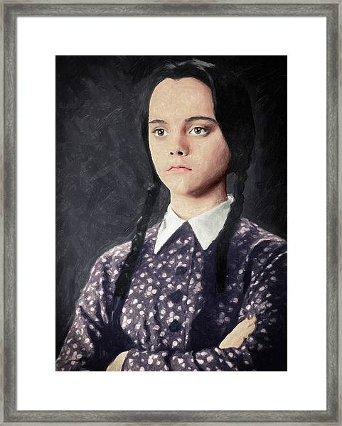 Wednesday Addams Framed Print