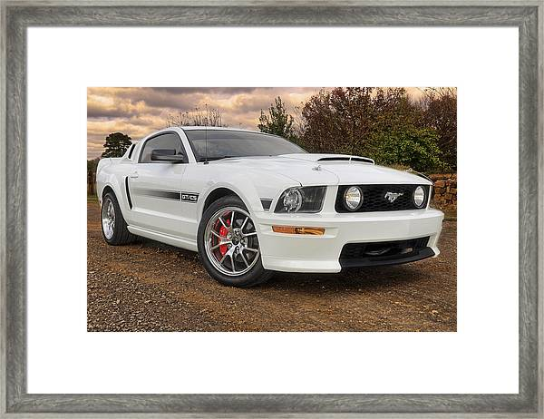 2008 Mustang Gt/cs - California Special - Sunset Framed Print