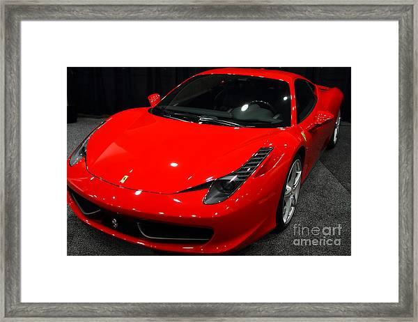 2011 Ferrari 458 Italia . 7d9397 Framed Print