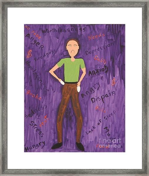 2011 Worried Man Framed Print by Gregory Davis