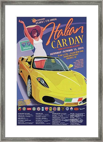 2013 Atlanta Italian Car Day Poster Framed Print