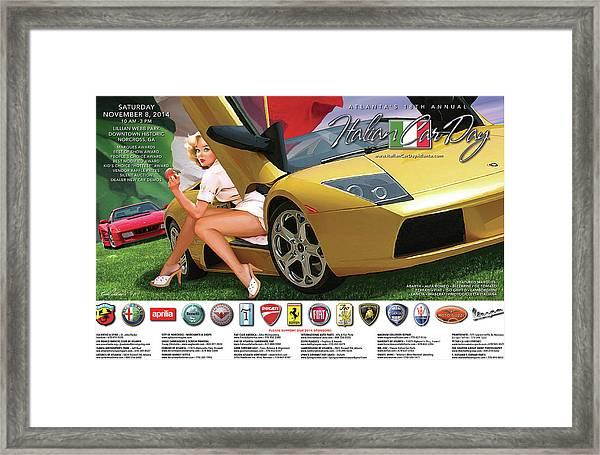 2014 Atlanta Italian Car Day Poster Framed Print