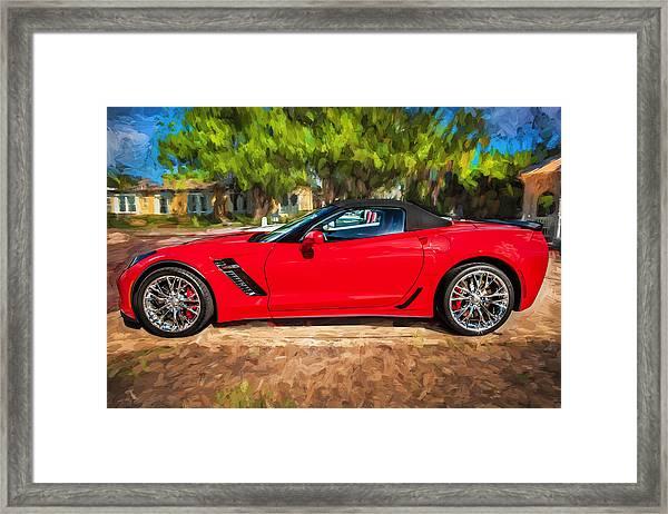 2015 Chevrolet Corvette Zo6 Painted  Framed Print