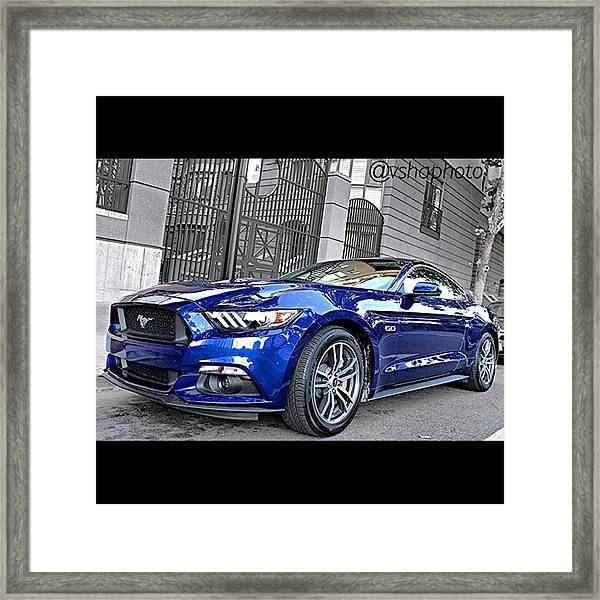 2015 #ford Mustang Gt 5.0l V8 Engine Framed Print