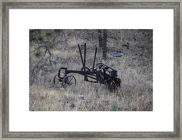 Old Farm Implement Lake George Co Framed Print