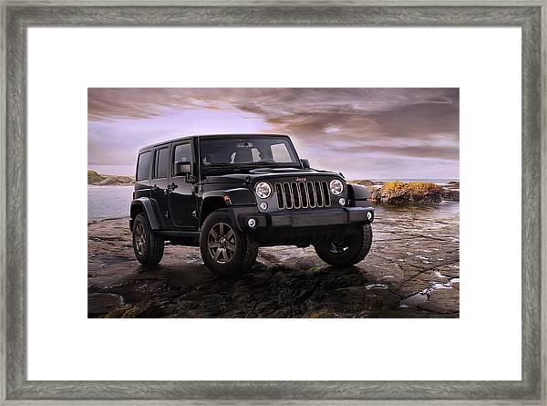 2016 Jeep Wrangler 75th Anniversary Model Framed Print