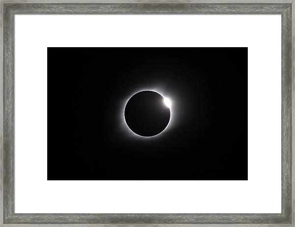 2017 Eclipse Diamond Ring Framed Print