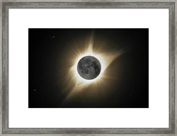 2017 Eclipse Hdr Framed Print