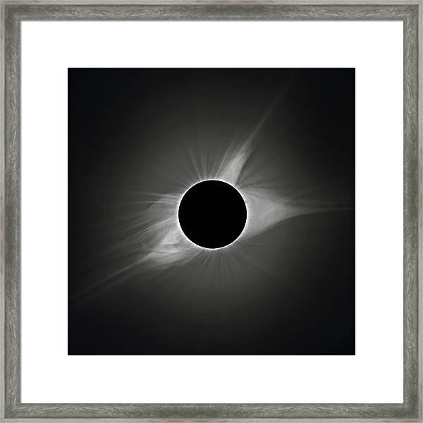 2017 Eclipse Totality's Corona Framed Print