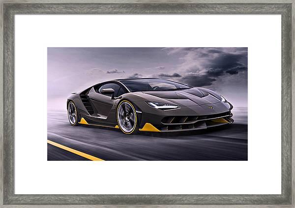 2017 Lamborghini Centenario Framed Print