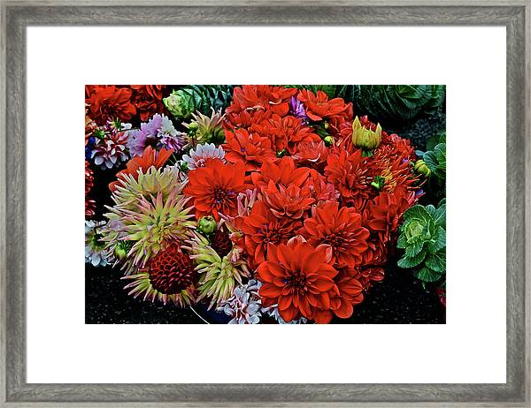 2017 Mid October Monona Farmers' Market Buckets Of Blossoms 1 Framed Print