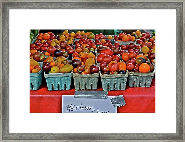2017 Monona Farmers' Market August Heirloom Cherry Tomatoes Framed Print