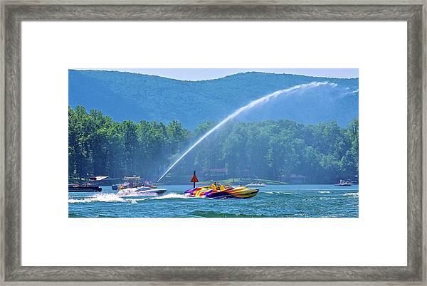 2017 Poker Run, Smith Mountain Lake, Virginia Framed Print
