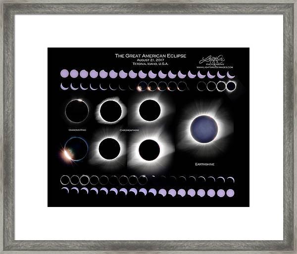 2017 Solar Eclipse Collage Framed Print