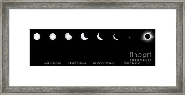 2017 Solar Eclipse Framed Print