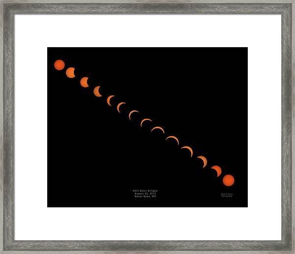 2017 Solar Eclipse Framed Print
