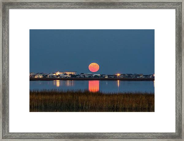 Framed Print featuring the photograph 2017 Supermoon by Francis Trudeau