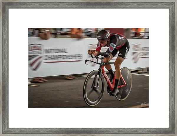 2017 Time Trial Champion Framed Print